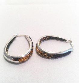 Fan Wear Earrings (Black & Gold)