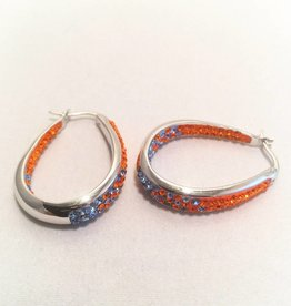 Chelsea Taylor Fan Wear Earrings (Orange & Blue)