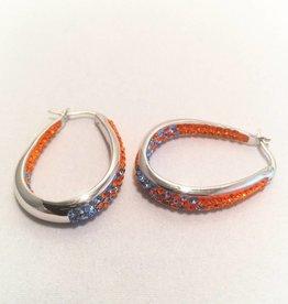 Fan Wear Earrings (Orange & Blue)
