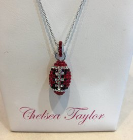 Chelsea Taylor Fan Ware Pendant (Black & Red)