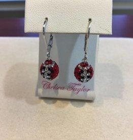 Chelsea Taylor Fan Ware Earrings (Black & Red)