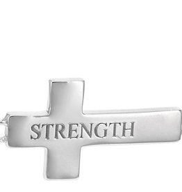 L5 inspirational Cross Necklace (Strength)