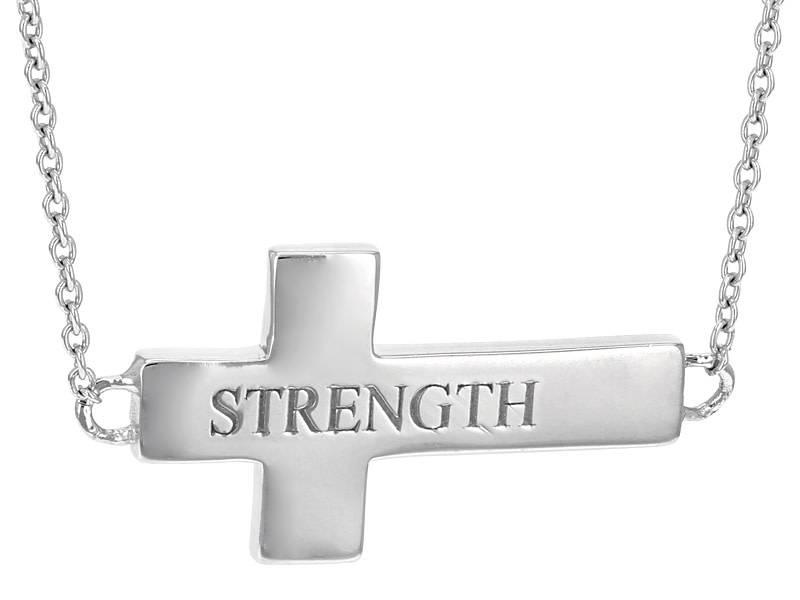 L5 inspirational Cross Necklace (Strength)