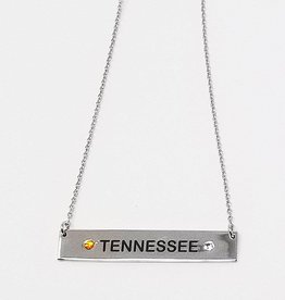 Chelsea Taylor Sun & Clear Pendant (Orange & White)