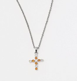 Chelsea Taylor Sun & Clear Pendant (Thin Cross)