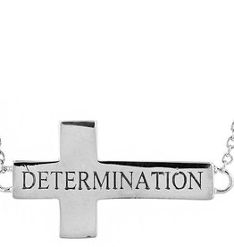 L5 inspirational Cross Necklace (Determination)
