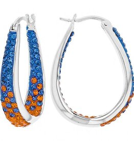 Chelsea Taylor BLUE & GOLD  LARGE HORSESHOE EARRINGS