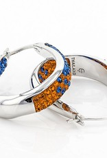 Chelsea Taylor BLUE & GOLD  LARGE HORSESHOE EARRINGS