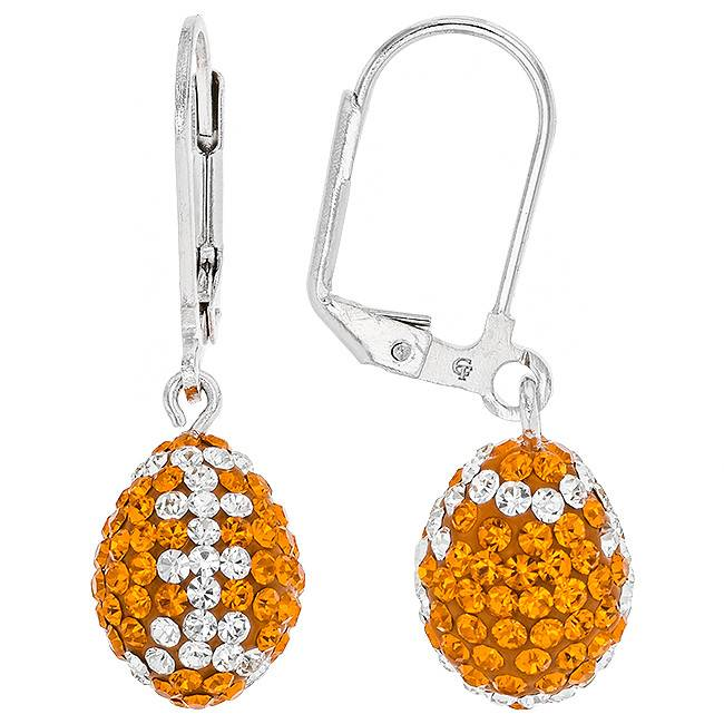 "Chelsea Taylor ""TENNESSEE"" 3-D FOOTBALL EARRINGS"