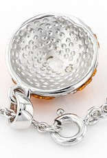 Chelsea Taylor BASEBALL ORANGE & WHITE CRYSTAL PENDANT