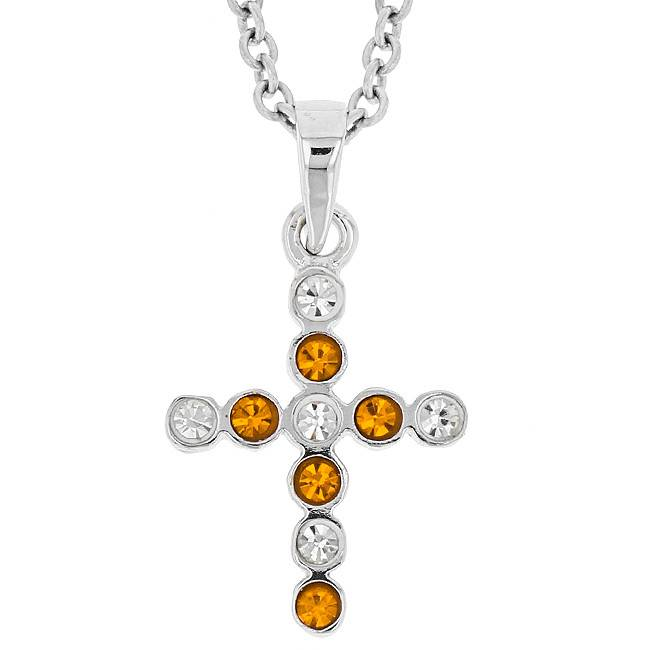SMALL BEZEL CROSS ORANGE & WHITE