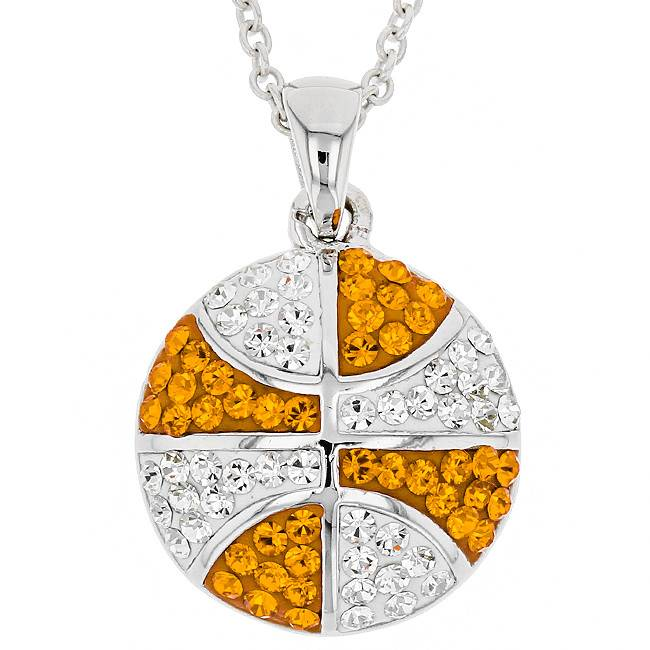 BASKETBALL ORANGE & WHITE PENDANT