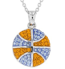 Chelsea Taylor BASKETBALL PENDANT ORANGE & LIGHT SAPPHIRE