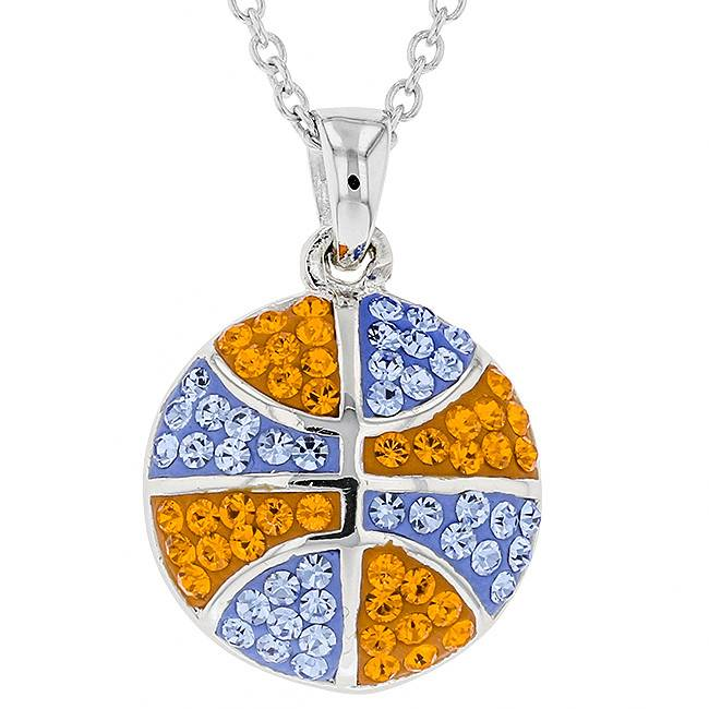 BASKETBALL PENDANT ORANGE & LIGHT SAPPHIRE