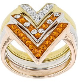 "ORANGE AND WHITE ""VICTORY"" RING"