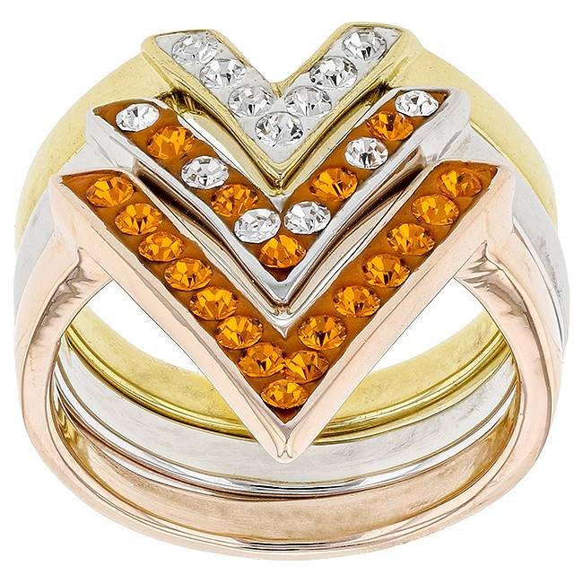"Chelsea Taylor ORANGE AND WHITE ""VICTORY"" RING"
