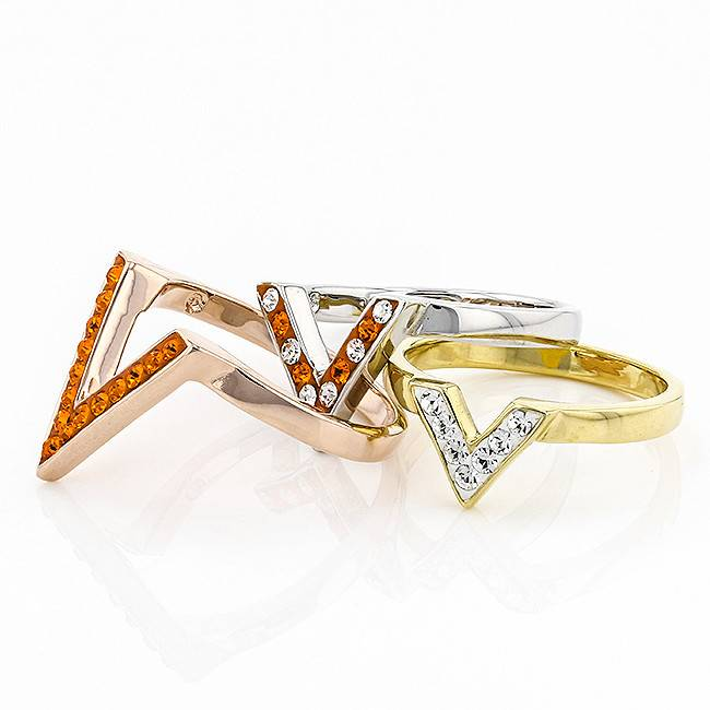 """ORANGE AND WHITE """"VICTORY"""" RING"""