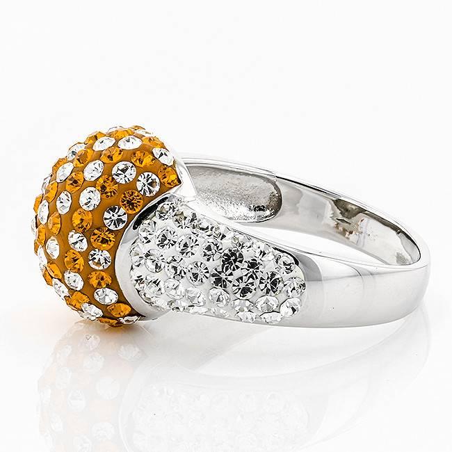 Chelsea Taylor ORANGE AND WHITE CUSHION RING