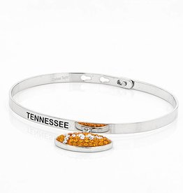 """TENNESSEE"" MEMORY BANGLE WITH DANGLE FOOTBALL"