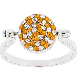 ORANGE/WHITE & ORANGE/LIGHT SAPPHIRE FLIP RING
