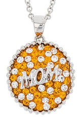 ROUND MOM PENDANT ORANGE & WHITE