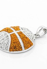 Chelsea Taylor LARGE ORANGE AND WHITE BASKETBALL PENDANT