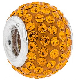 Chelsea Taylor ORANGE CRYSTAL CHARM