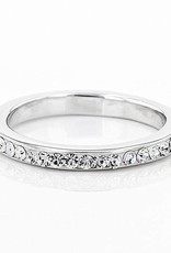Chelsea Taylor ANNIVERSARY STYLE ALL WHITE CRYSTAL RING
