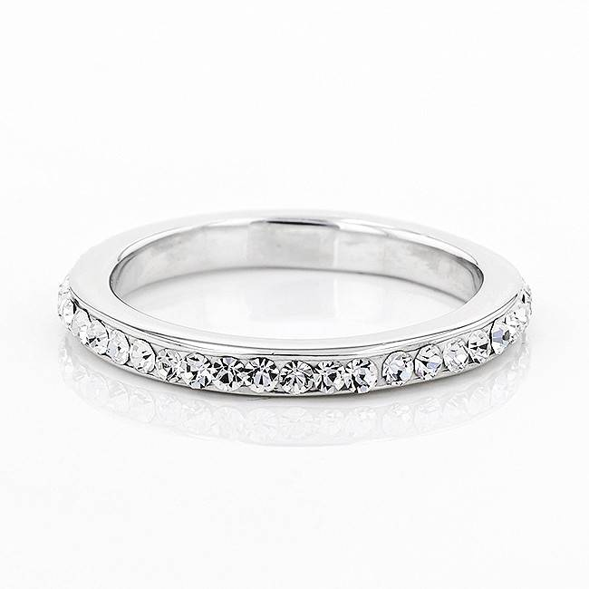 ANNIVERSARY STYLE ALL WHITE CRYSTAL RING