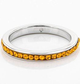 ANNIVERSARY STYLE ALL ORANGE CRYSTAL RING