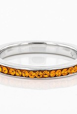 Chelsea Taylor ANNIVERSARY STYLE ALL ORANGE CRYSTAL RING