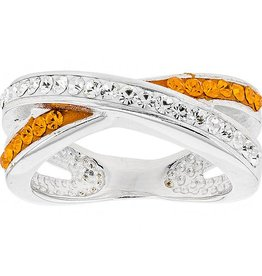 Chelsea Taylor CRISS CROSS ORANGE & WHITE RING