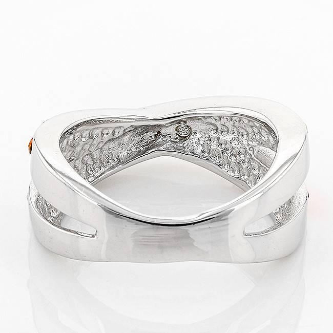 CRISS CROSS ORANGE & WHITE RING