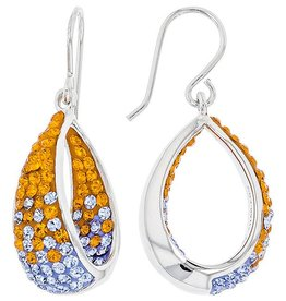 DANGLE IN/OUT EARRINGS ORANGE & LIGHT SAPPHIRE