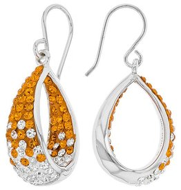 Chelsea Taylor DANGLE IN/OUT EARRINGS ORANGE & WHITE