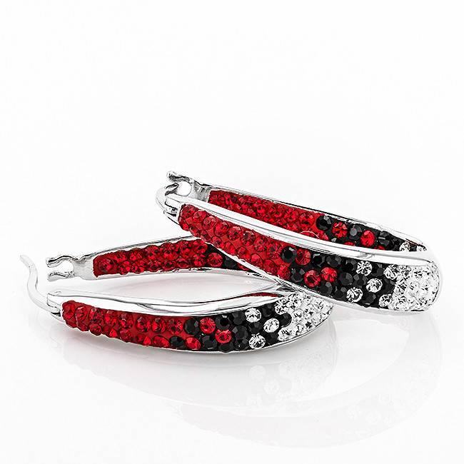 Chelsea Taylor RED & BLACK  LARGE HORSESHOE EARRINGS