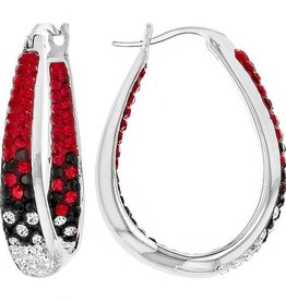 Chelsea Taylor RED & BLACK  LARGE HORSESHOE EARRINGS