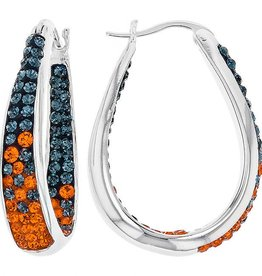Chelsea Taylor FAN WEAR LARGE HORSESHOE EARRINGS (BLUE & ORANGE)