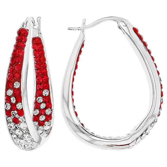 Chelsea Taylor RED LARGE HORSESHOE EARRINGS