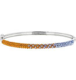Chelsea Taylor 4MM BANGLE ORANGE & LIGHT SAPPHIRE