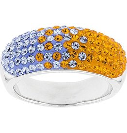 10MM TAPERED ORANGE & LIGHT SAPPHIRE RING