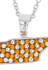 SOLID STATE OF TN ORANGE & WHITE PENDANT