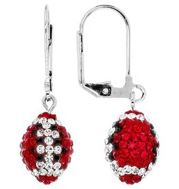 Chelsea Taylor Fan Wear Earrings (Red & Black)