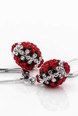 Chelsea Taylor Fan Wear Earrings (Red & Black)