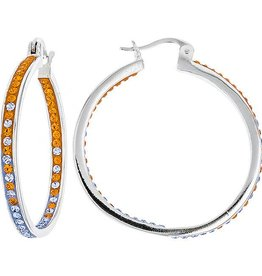 INSIDE OUT HOOP ORANGE & LIGHT SAPPHIRE EARRINGS