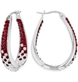 Chelsea Taylor DEEP RED  LARGE HORSESHOE EARRINGS