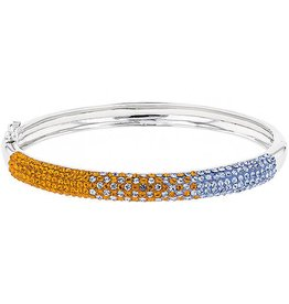 6MM BANGLE ORANGE & LIGHT SAPPHIRE