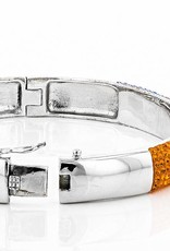 Chelsea Taylor ORANGE/LIGHT SAPP CRYSTAL LARGE BANGLE BRACELET