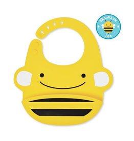Skip*Hop Fold & Go Silicone Bib: Bee