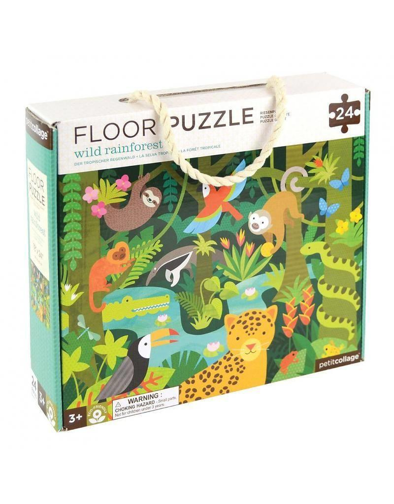 Petit Collage Petit Collage Wild Rainforest Floor Puzzle